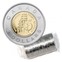 2011 Canadian $2 Boreal Forest Toonie Original Coin Roll