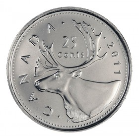 2011 Canadian 25-Cent Caribou Quarter Coin (Brilliant Uncirculated)