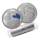 2011 Canadian 25-Cent Legendary Nature: Orca Whale Quarter Original Coin Roll (Some Coloured)
