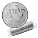 2011 Canadian 25-Cent Legendary Nature: Peregrine Falcon Non-coloured Quarter Original Coin Roll
