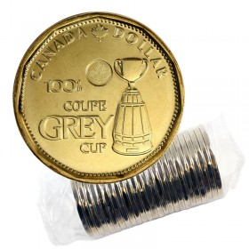 2012 Canadian $1 100th Grey Cup CFL Commem Loonie Dollar Original Coin Roll