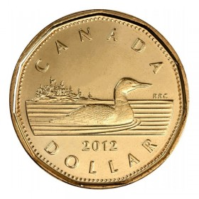 2012 Canadian $1 Common Loon Dollar (Brilliant Uncirculated)
