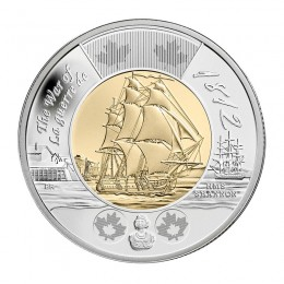 2012 Canadian $2 War of 1812: HMS Shannon Commemorative Toonie (Brilliant Uncirculated)