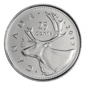 2012 Canadian 25-Cent Caribou Quarter Coin (Brilliant Uncirculated)
