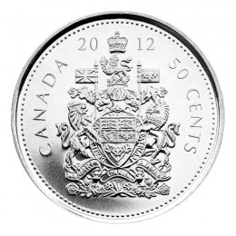 2012 Canadian 50-Cent Coat of Arms Half Dollar Coin (Brilliant Uncirculated)