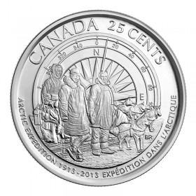2013 (1913-) Canadian 25-Cent Arctic Expedition 100th Anniv Quarter Coin (Brilliant Uncirculated)