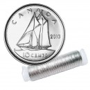 2013 Canadian 10-Cent Bluenose Schooner Dime Original Coin Roll