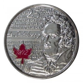 2013 Canadian 25-Cent Heroes of 1812: Charles-Michel de Salaberry Coloured Quarter Coin (Brilliant Uncirculated)