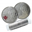 2013 Canadian 25-Cent Heroes of 1812: Laura Secord Quarter Original Coin Roll (Some Coloured)