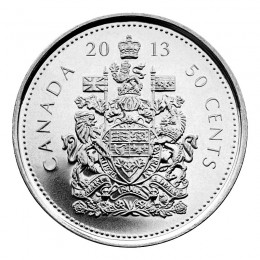 2013 Canadian 50-Cent Coat of Arms Half Dollar Coin (Brilliant Uncirculated)