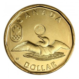 2014 Canadian $1 Olympic Lucky Loonie Dollar Coin (Brilliant Uncirculated)