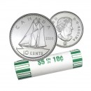 2014 Canadian 10-Cent Bluenose Schooner Dime Original Coin Roll