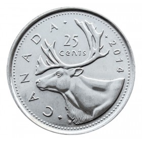 2014 Canadian 25-Cent Caribou Quarter Coin (Brilliant Uncirculated)