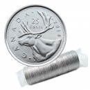 2014 Canadian 25-Cent Caribou Quarter Original Coin Roll