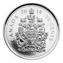 2014 Canadian 50-Cent Coat of Arms Half Dollar Coin (Brilliant Uncirculated)
