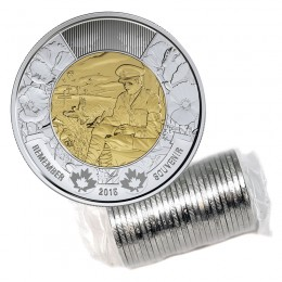 2015 Canadian $2 In Flanders Fields Remembrance Toonie Original Coin Roll