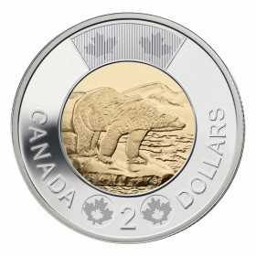 2015 Canadian $2 Polar Bear Toonie Coin (Brilliant Uncirculated)
