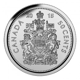 2015 Canadian 50-Cent Coat of Arms Half Dollar Coin (Brilliant Uncirculated)