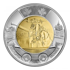 2016 Canadian $2 Battle of the Atlantic 75th Anniv Remembrance Toonie Coin (Brilliant Uncirculated)