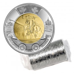 2016 Canadian $2 Battle of the Atlantic 75th Anniv Remembrance Toonie Original Coin Roll