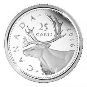 2016 Canadian 25-Cent Caribou Quarter Coin (Brilliant Uncirculated)
