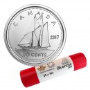 2017 Canadian 10-Cent Bluenose Schooner Dime Classic Special Wrap Coin Roll