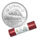 2017 Canadian 5-Cent Beaver Nickel Classic Special Wrap Coin Roll