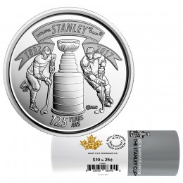 2017 (1892-) Canadian 25-Cent The Stanley Cup® 125th Anniv Quarter Special Wrap Coin Roll