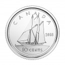 2018 Canadian 10 Cents Schooner Dime (Brilliant Uncirculated)