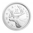 2018 Canadian 25 Cents Caribou Quarter Coin (Brilliant Uncirculated)