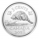 2018 Canadian 5 Cents Beaver Nickel (Brilliant Uncirculated)