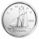 2019 Canadian 10-Cent Schooner Dime Coin (Brilliant Uncirculated)