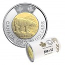 2019 Canadian $2 Polar Bear Toonie First Strikes Special Wrap Coin Roll