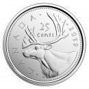 2019 Canadian 25-Cent Caribou Quarter Coin (Brilliant Uncirculated)