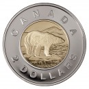 2002 (1952-) Canadian $2 Polar Bear/Silver Jubilee Toonie Coin (Brilliant Uncirculated)