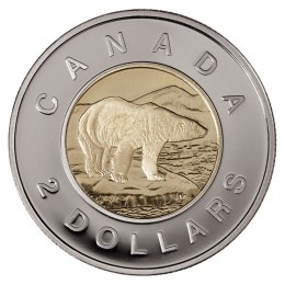 2006 Canadian $2 Polar Bear Toonie Coin (Brilliant Uncirculated)