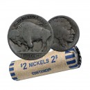 1913-1938 NO DATE United States 5 Cent Indian Head (Buffalo) Nickel Coin Roll (Circulated)