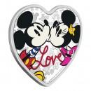 2019 Niue $2 Disney Love *Mickey & Minnie Mouse* 1 oz Fine Silver Heart-shaped Coin
