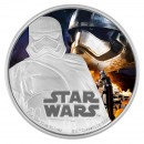 2016 Niue $2 Star Wars™ The Force Awakens: Captain Phasma™ 1 oz Fine Silver Coloured Coin
