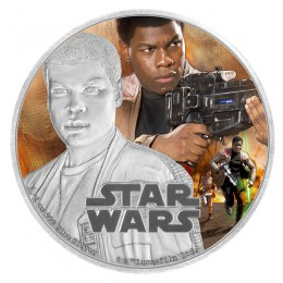 2016 Niue $2 Star Wars™ The Force Awakens: Finn™ 1 oz Fine Silver Coloured Coin