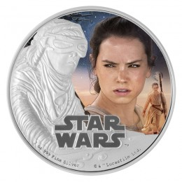 2016 Niue $2 Star Wars™ The Force Awakens: Rey™ 1 oz Fine Silver Coloured Coin