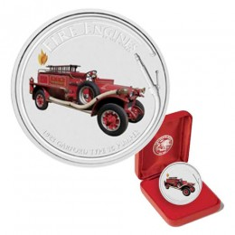 2006 Cook Islands Fine Silver $1 Dollar - Fire Engines of the World: 1923 Garford Type 15 Pumper