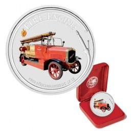 2006 Cook Islands Fine Silver $1 Dollar - Fire Engines of the World: 1923 Löschfahrzeug LF-15