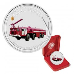 2006 Cook Islands Fine Silver $1 Dollar - Fire Engines of the World: AA-60 Airfield