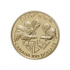 1990 Canada 14-karat Gold $100 Coin - International Literacy Year