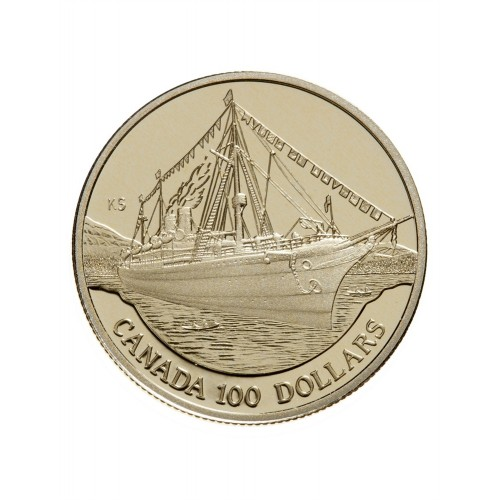 1991 Canada 14-karat Gold $100 Coin - The Empress of India
