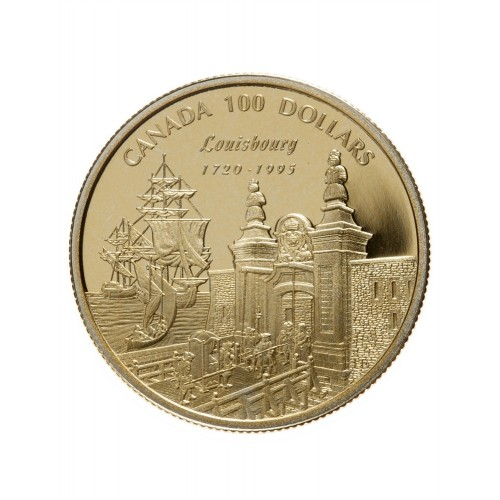 1995 Canada 14-karat Gold $100 Coin - 275th Anniversary of the Founding of Louisbourg