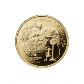 1997 Canada 14-karat Gold $100 Coin - 150th Anniversary of the Birth of Alexander Graham Bell