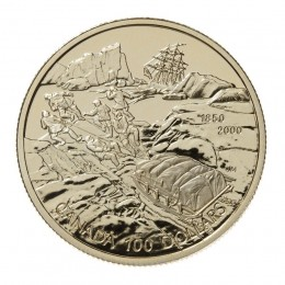 2000 Canada 14-karat Gold $100 Coin - 150th Anniversary of the Search for the Northwest Passage