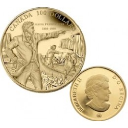 2008 Canada 14-karat Gold $100 Coin - 200th Anniversary of Descending the Fraser River